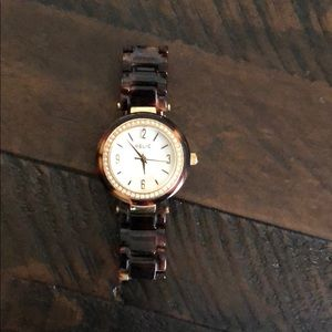 Gorgeous Relic tortoise shell watch